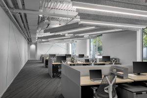 tech corporate office open space