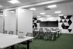tech corporate office training room