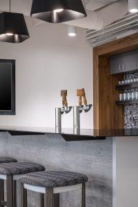 Boots Construction Corporate Interior Design Breakroom Island Bar