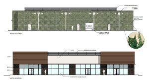 Retail Complex design elevations 2500 City West Houston
