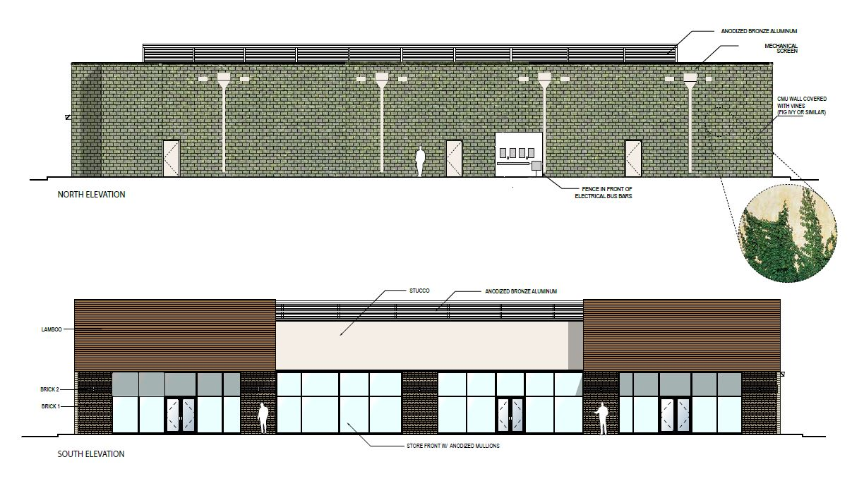 Retail Complex design elevations 2500 City West Houston