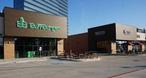 Retail complex architecture exterior design 2500 City West Houston