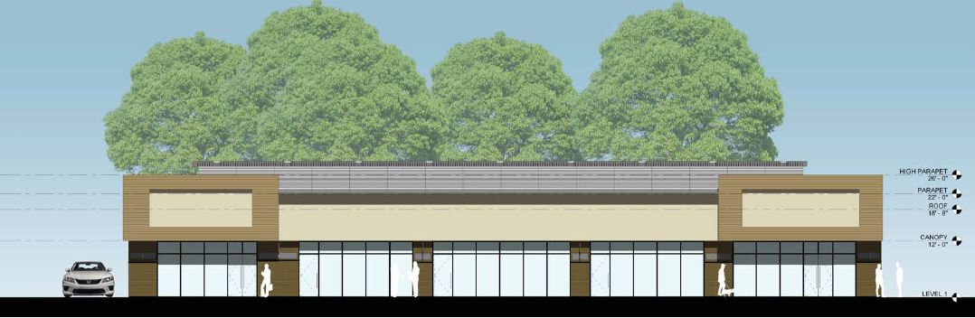 Retail Complex Facade Design Architecture 2500 City West Houston
