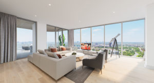 The Residences at The Allen Living Room