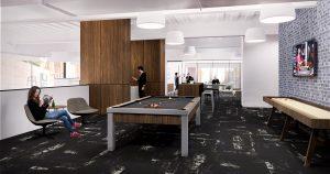 410 17th Corporate Interior Design Club Game Room Rendering