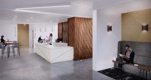 410 17th Corporate Interior Design Club Beverage Bar Rendering