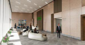 410 17th Corporate Interior Design Entry Reception Rendering