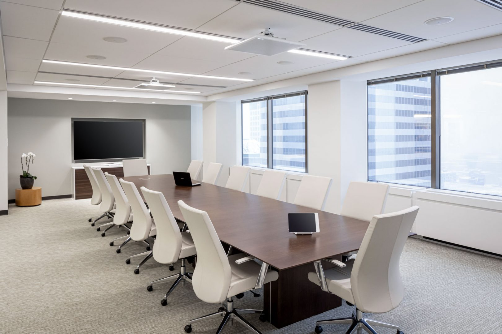 Corporate Interior Design Conference Room Light Colors Centennial Denver