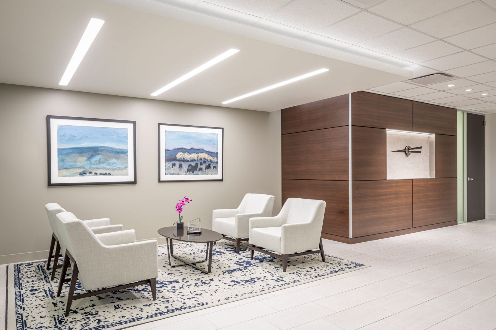 Corporate Interior Design Entry Lobby Centennial Denver