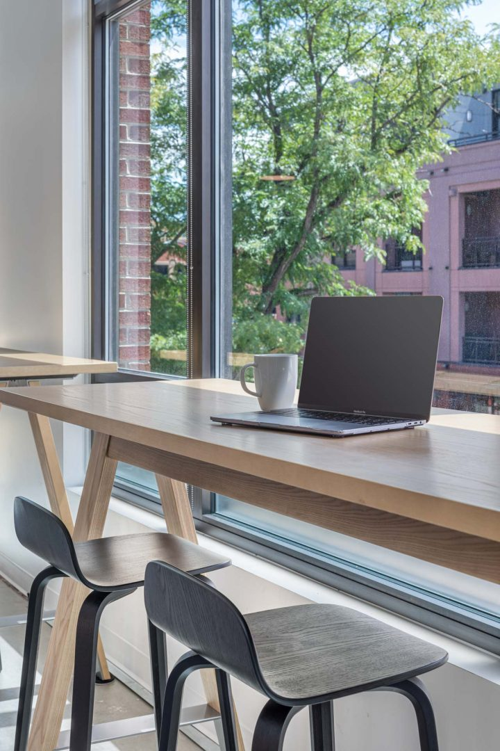 Corporate Interior Design Bar Seating Window with View