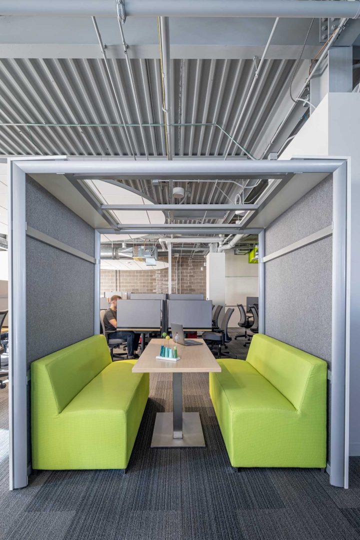 Corporate Interior Design Meeting Booth Informal Work Area