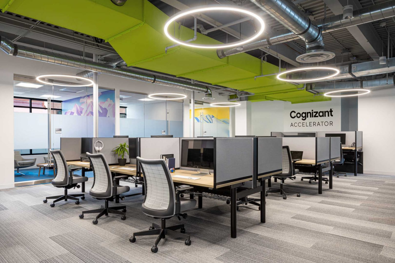 Corporate Interior Workstations Open Work Area Cognizant