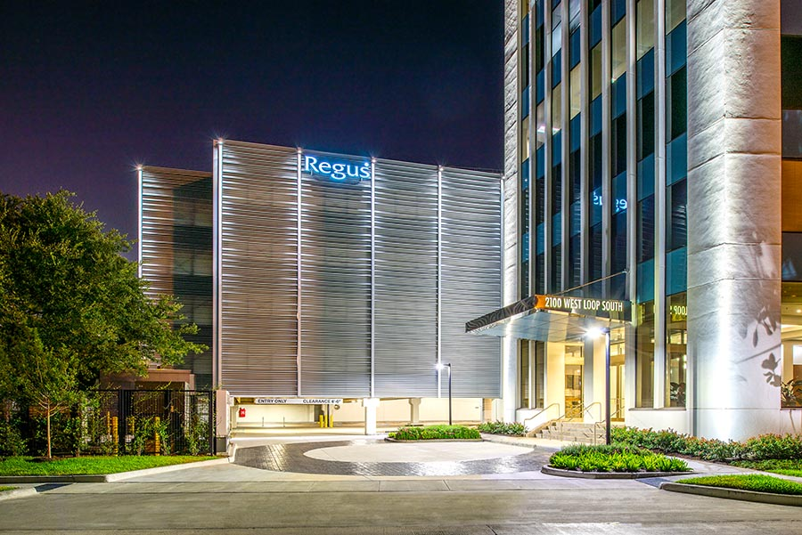 a2100 West Loop South Houston Architecture Building Repositioning Entrance Lighting