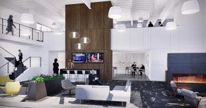 410 17th Street Amenity Lounge Design Denver Colorado Low Res