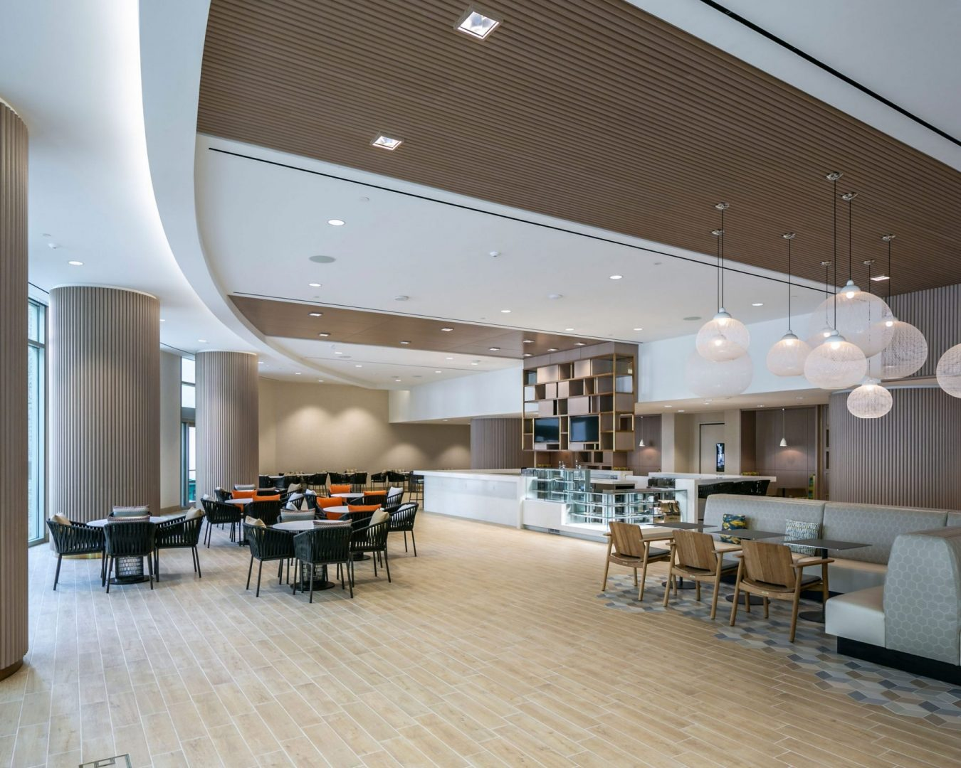 Lobby Renovation Architecture Building Repositioning Design Coffee Bar Entertainment Space