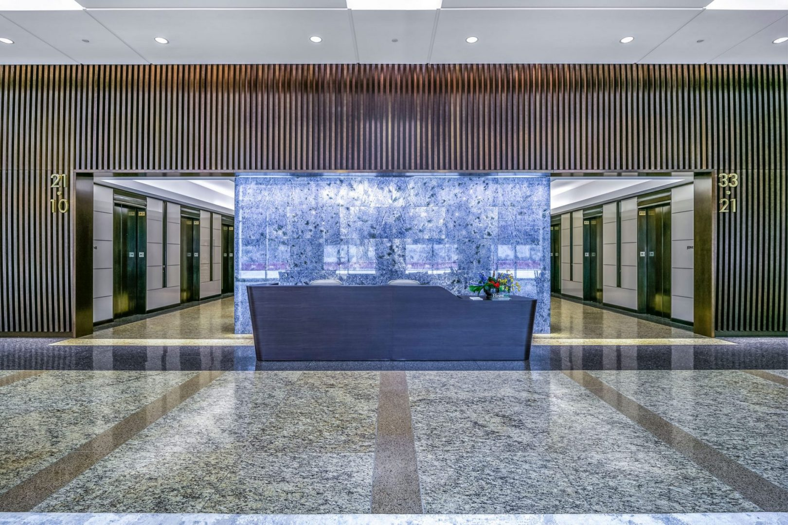 Lobby Renovation Architecture Building Repositioning Design Reception Desk