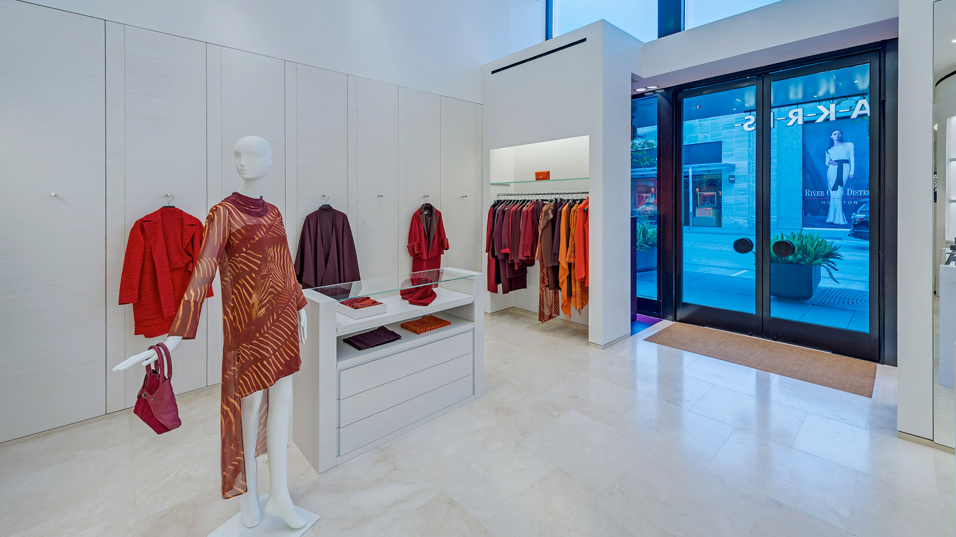 Commercial Retail Interior Design Houston Store Entrance Hanging Display