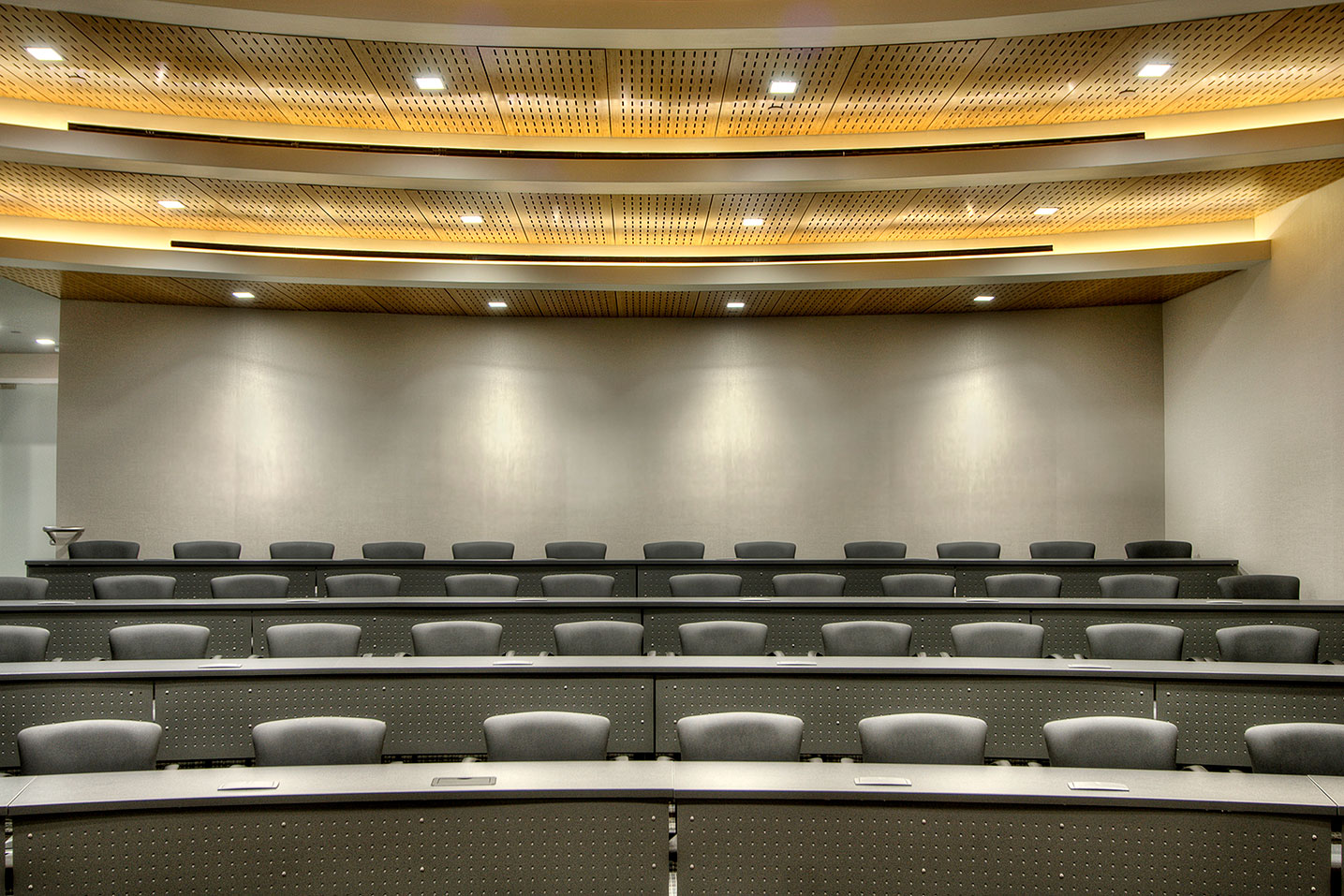 Corporate Interior Design Idea Theater Auditorium Acoustic Ceiling