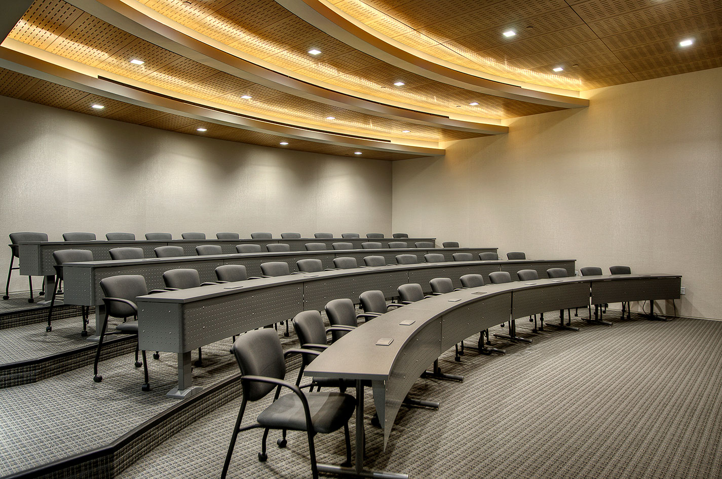 Corporate Interior Design Idea Theater Auditorium Tiered Ceiling