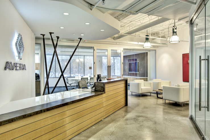 Corporate Interior Design Modern Office Avera Companies Investment Firm Reception