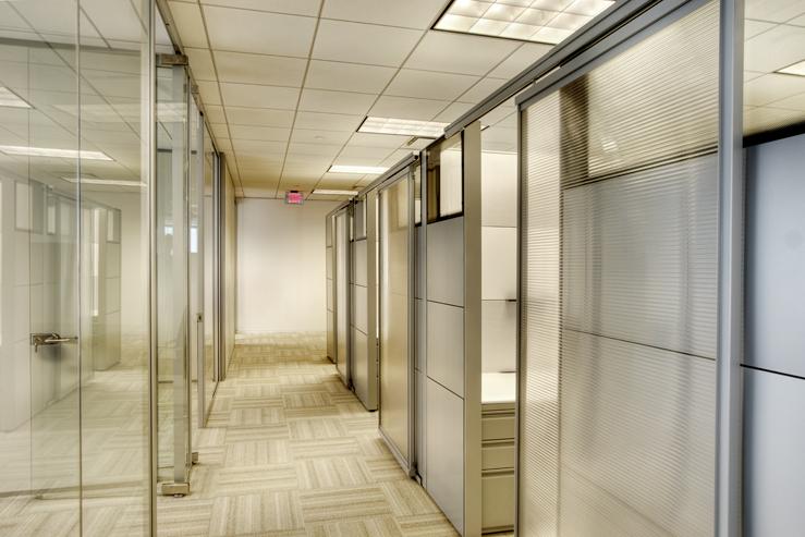 Corporate Interior Design Houston Avison Young Corridor Private Offices