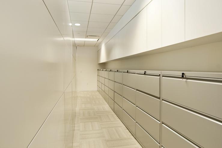 Corporate Interior Design Houston Avison Young File Store Room
