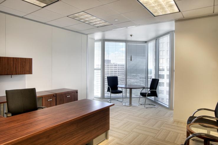 Corporate Interior Design Houston Avison Young Private Office View