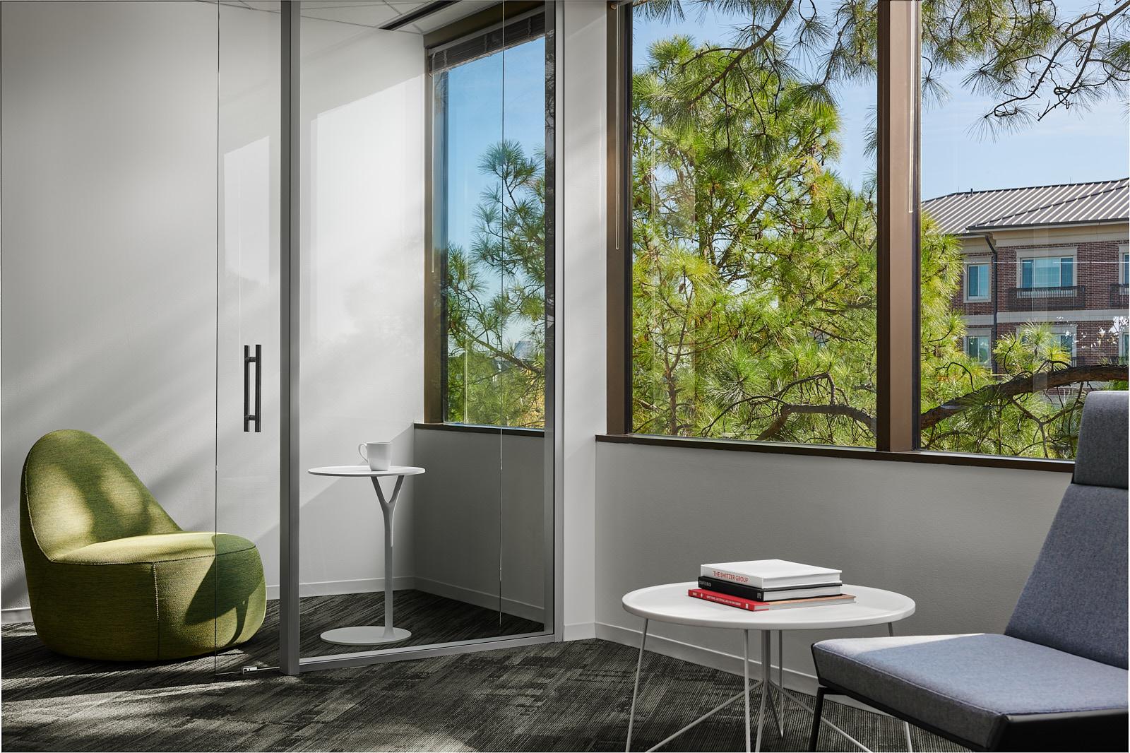 Institutional Corporate Office Interior Design Belmont Village Private Phone room