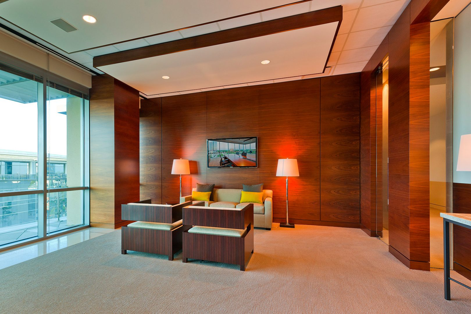 Workplace Office Interior Design BEUSA Energy The Woodlands Lobby Seating