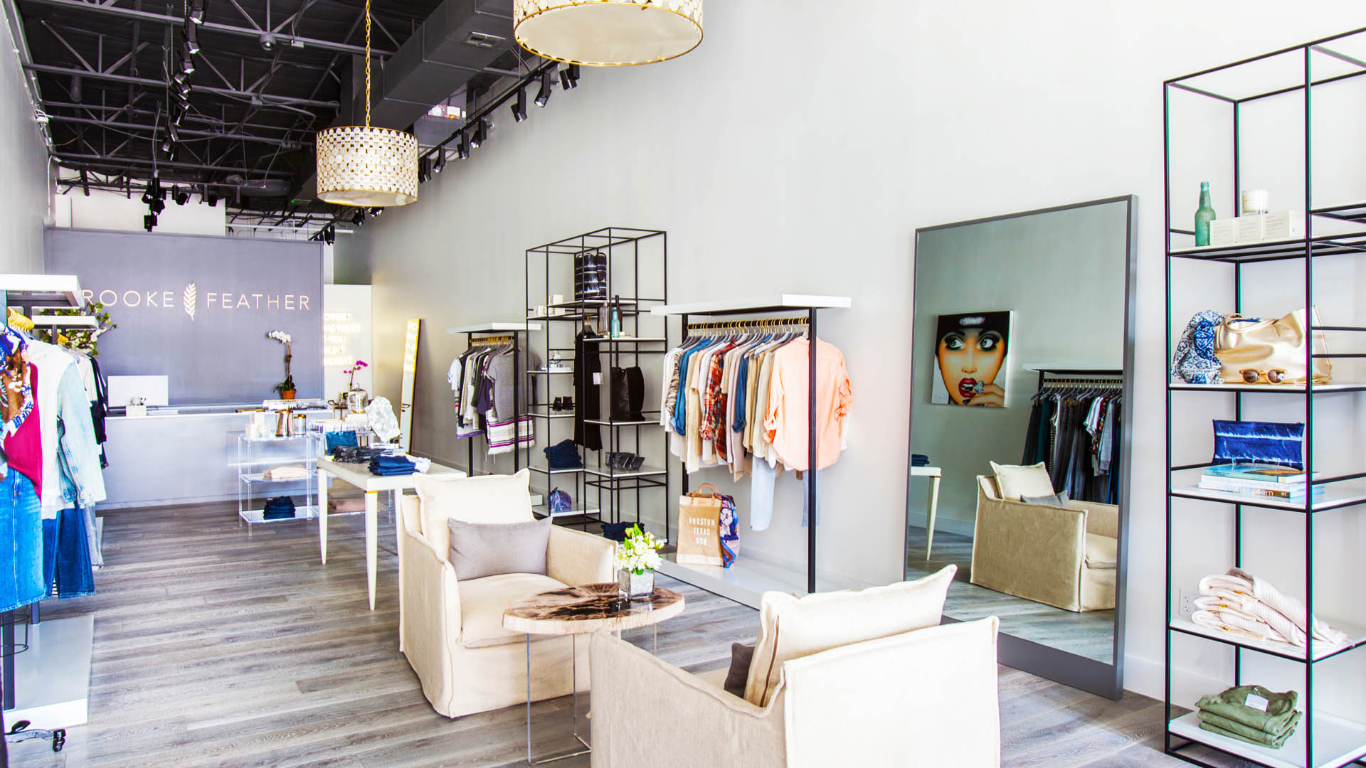 Commercial Retail Interior Design High End Women's Apparel Brooke Feather Houston
