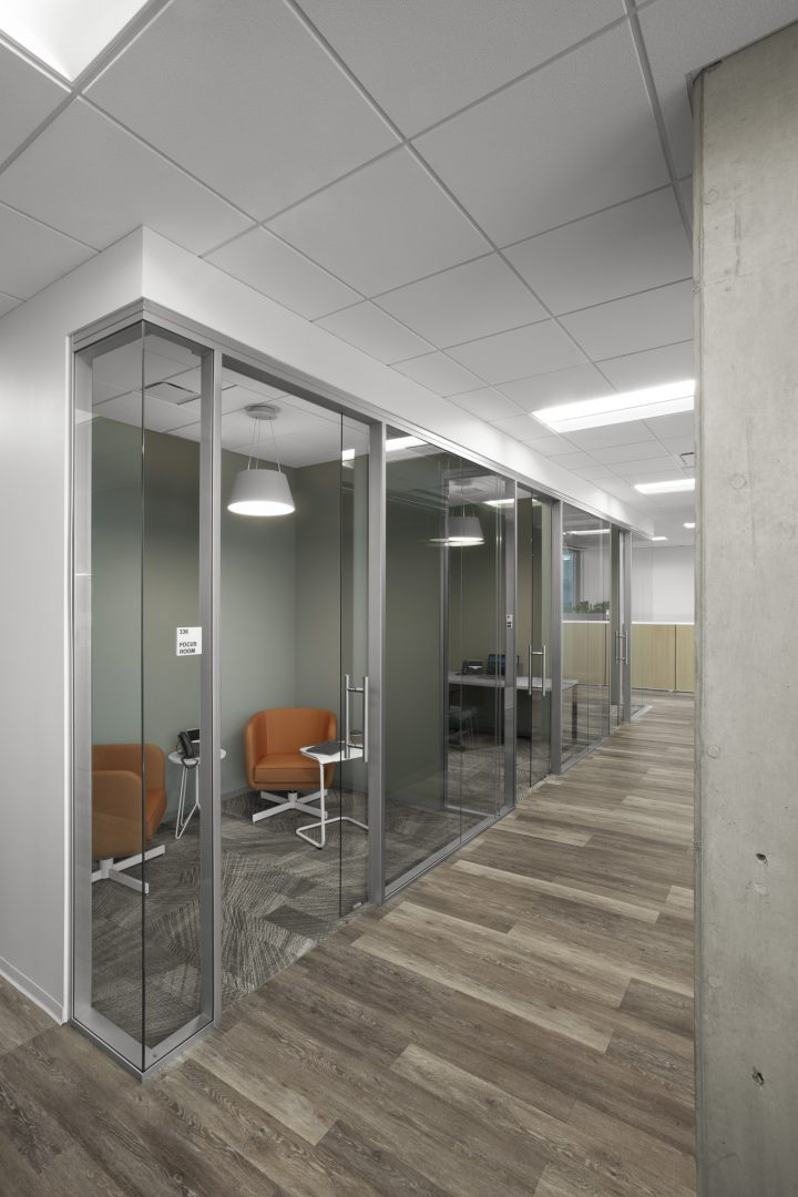 Corporate Financial Interior Design Cardtronics Private Phone Room Booths Glass Fronts