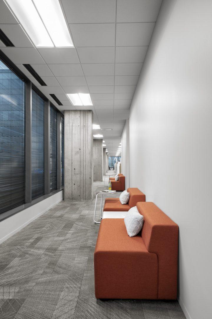 Corporate Financial Interior Design Cardtronics Corridor Seating