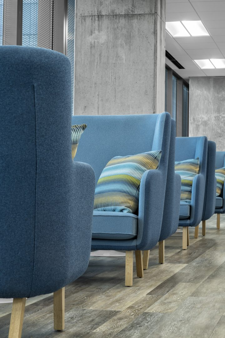Corporate Financial Interior Design Cardtronics Face to Face Seating