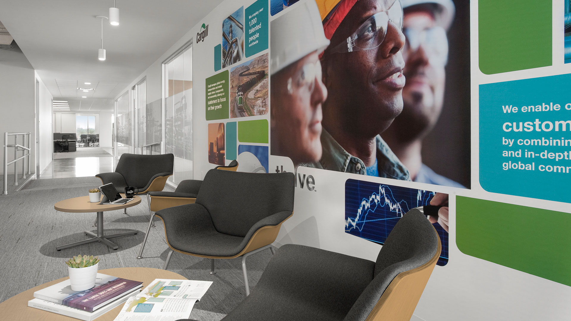 Corporate Interior Design City Center Houston Cargill Informal Meeting Seating