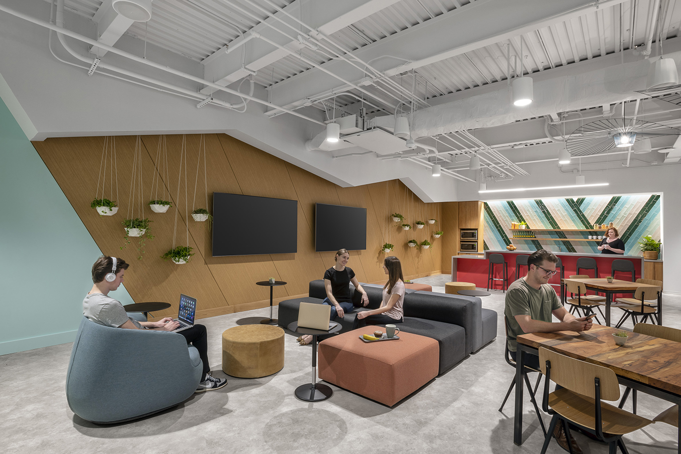 Workplace Interior Design Technology Client Austin Break Out Space Lounge
