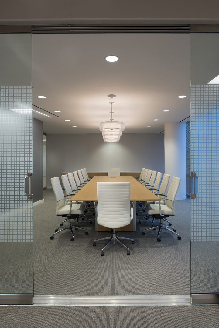 Corporate Interior Design Houston Energy Alloys Entrance to Conference Room