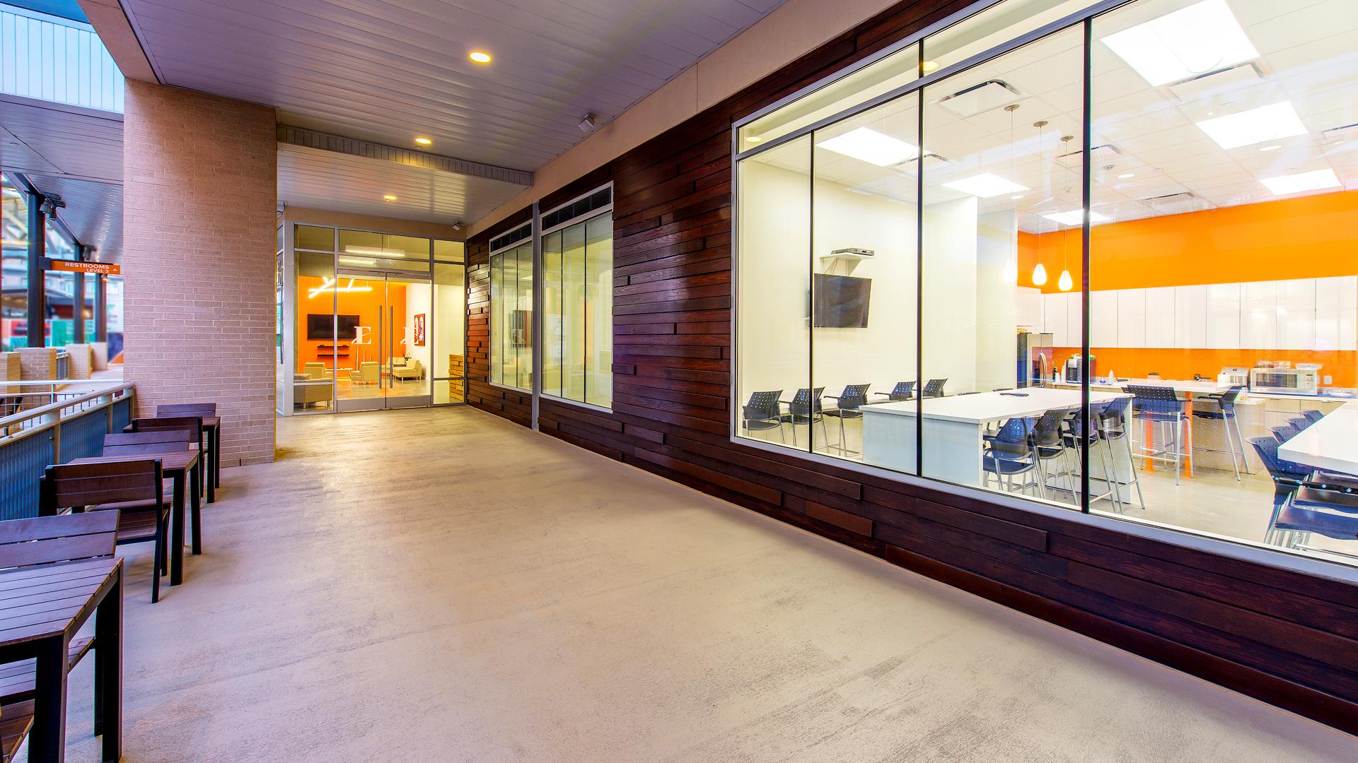 Workplace Interior Design Enertia Houston Storefront Glass Exterior Facade