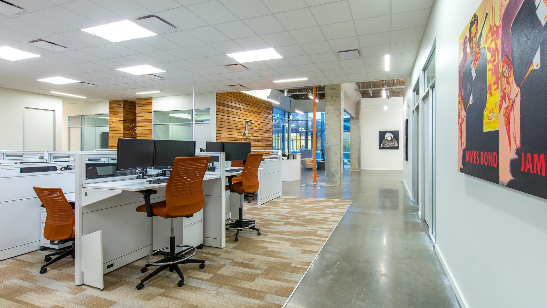 Workplace Interior Design Enertia Houston Open Office Work Area