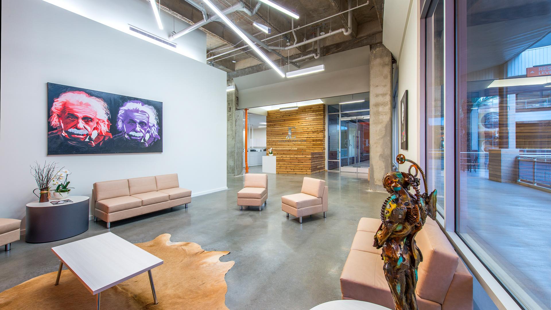 Workplace Interior Design Enertia Houston Lobby Seating