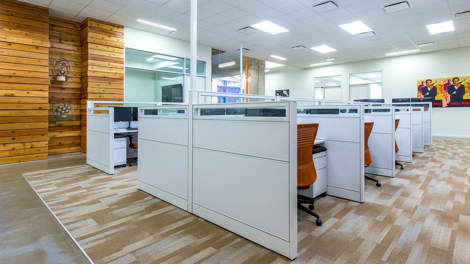 Workplace Interior Design Enertia Houston Open Workstations