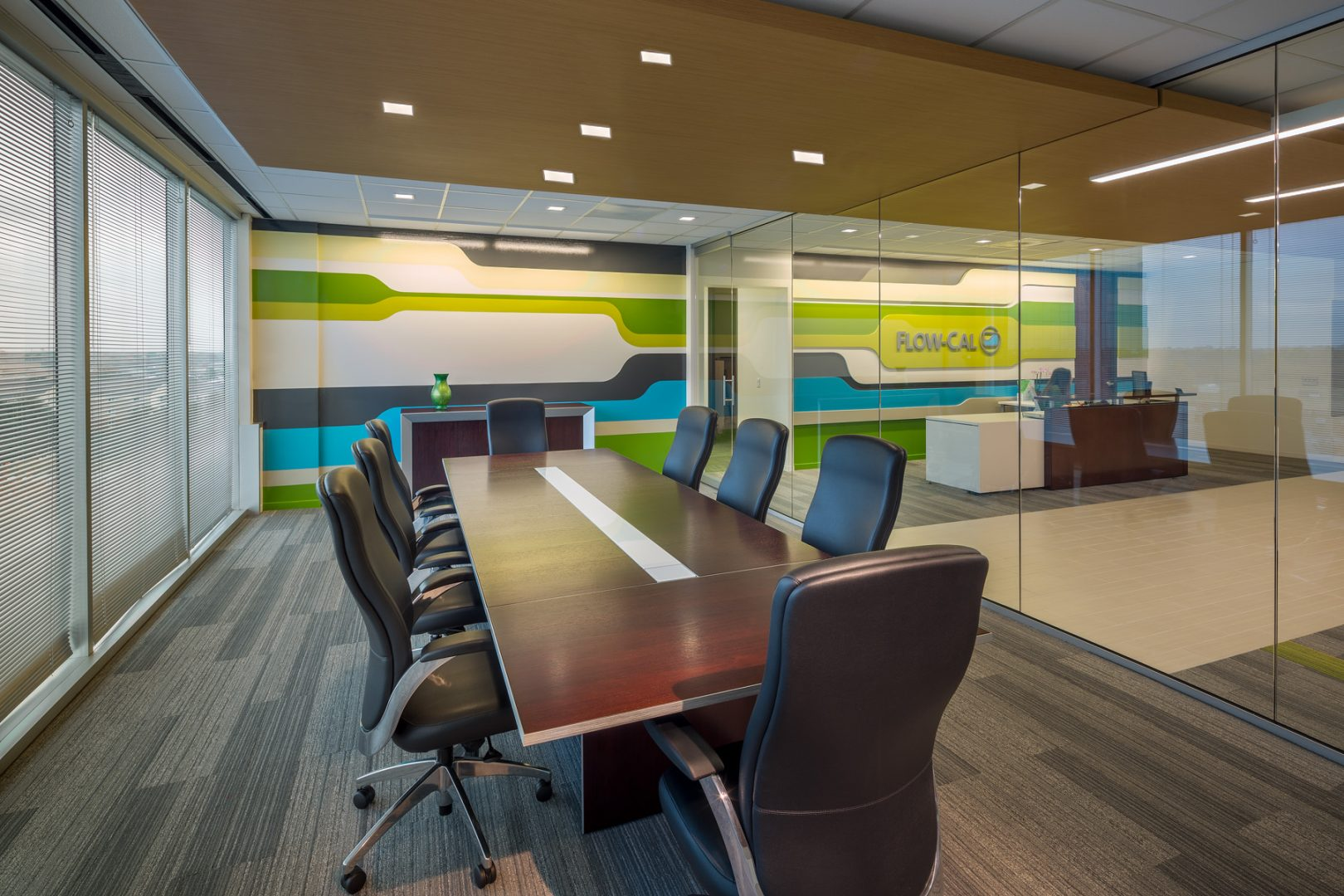 Workplace Interior Design Flow-Cal Houston Conference Meeting Room