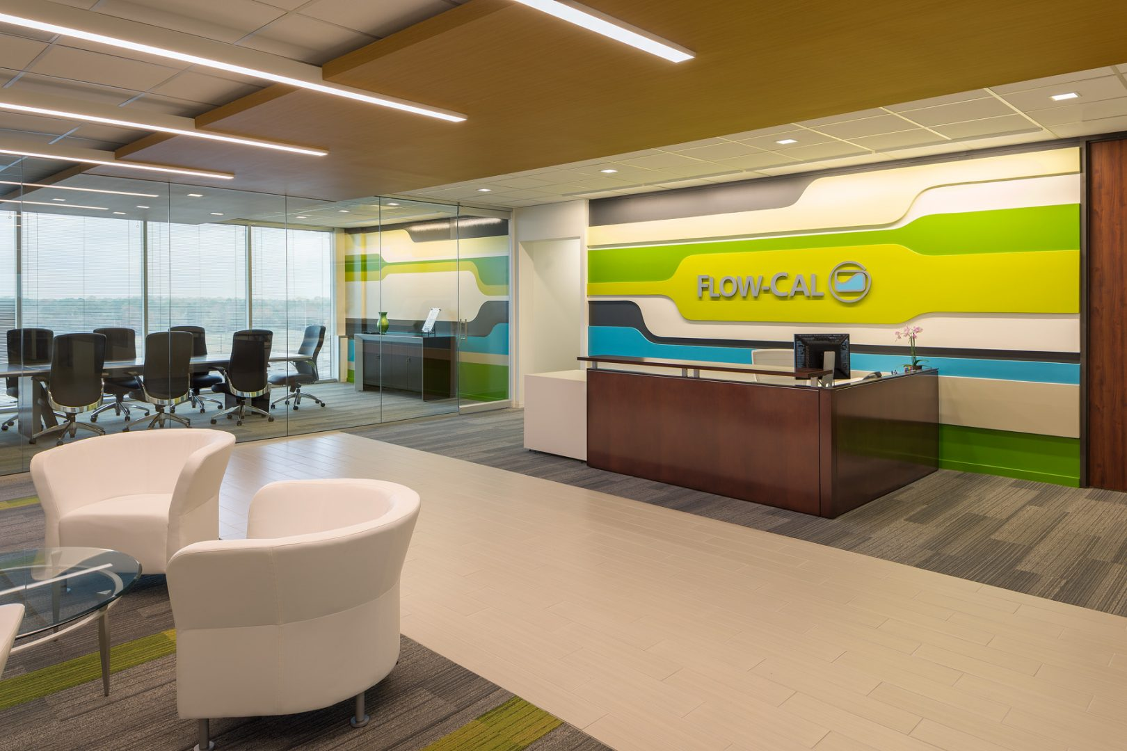 Workplace Interior Design Flow-Cal Houston Reception Entrance Lobby