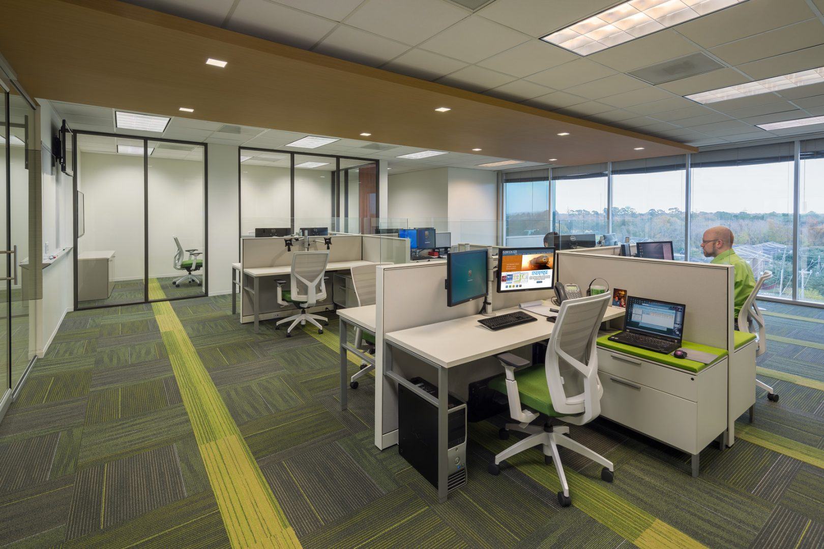 Workplace Interior Design Flow-Cal HoustonOpen Office Workstations