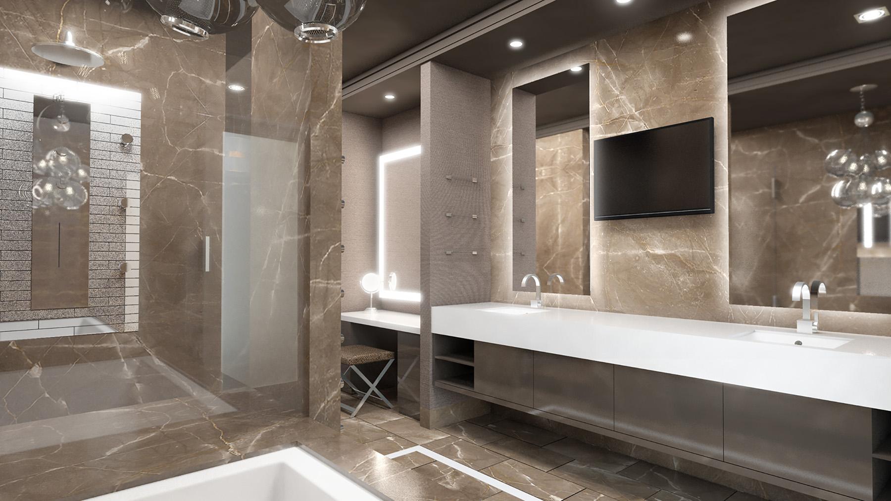 Hospitality Architecture Interior Design Golden Nugget Atlantic City Villa Master Bathroom