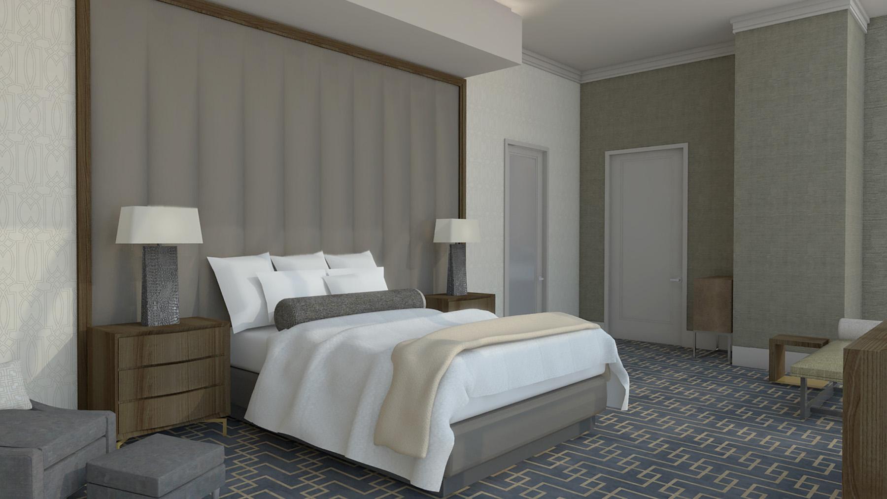 Hospitality Architecture Interior Design Golden Nugget Atlantic City Villa Master Bedroom