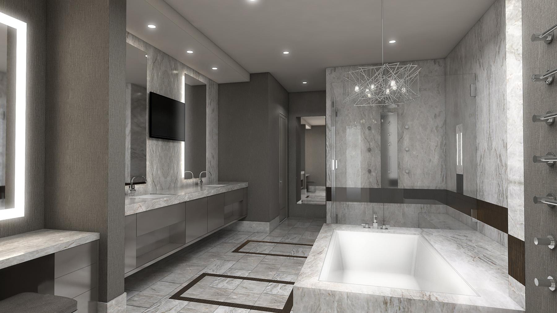 Hospitality Architecture Interior Design Golden Nugget Atlantic City Villa Modern Master Bathroom