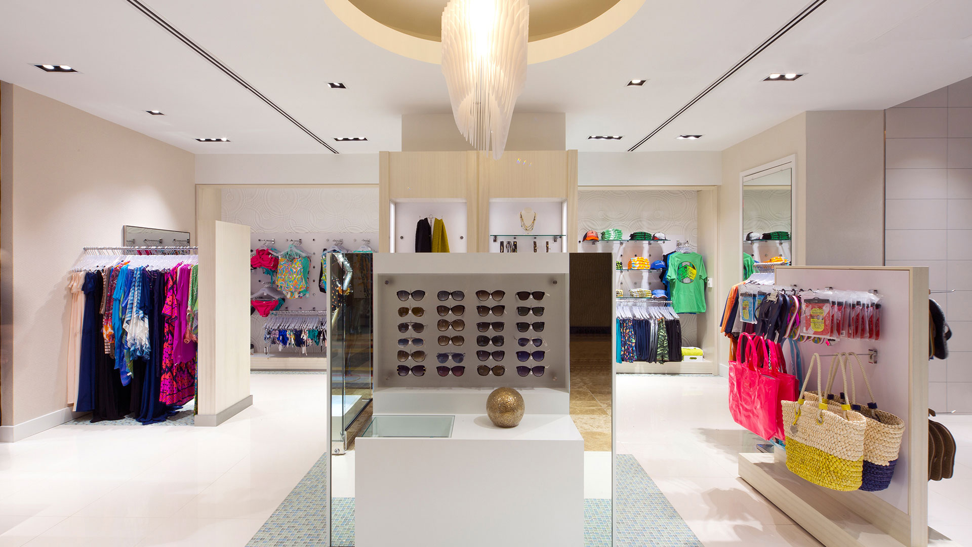 Commercial Retail Design Golden Nugget Lake Charles Landry's Boutique high end apparel Aqua