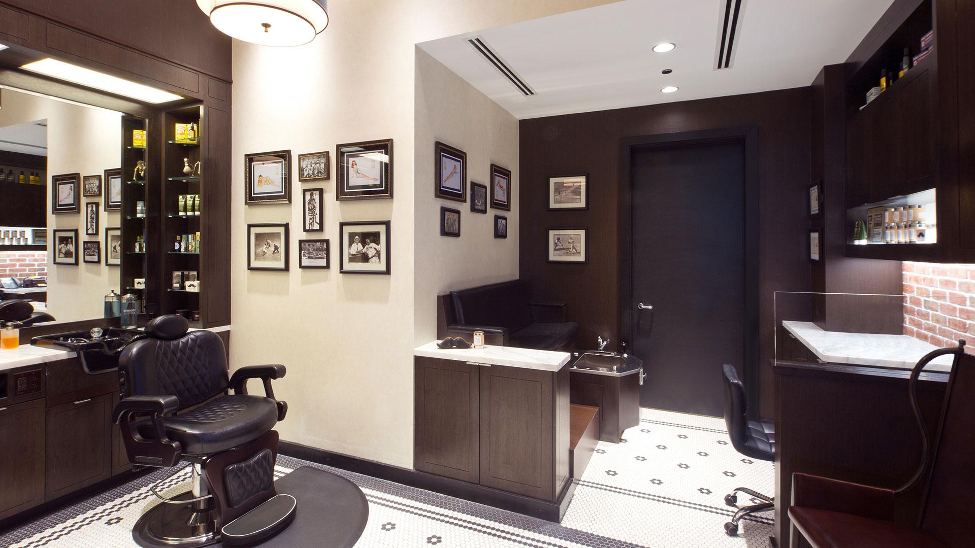 Commercial Retail Design Golden Nugget Lake Charles Landry's Hair Salon Barber shop