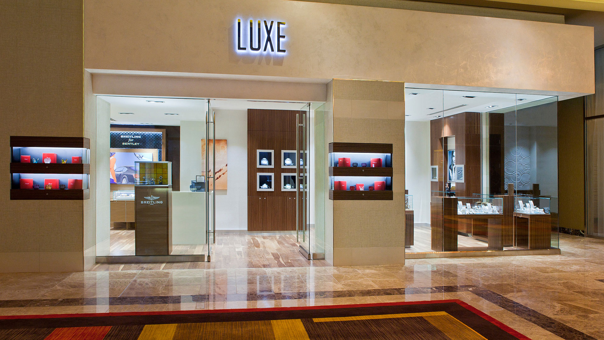 Commercial Retail Design Golden Nugget Lake Charles Landry's Boutique Luxe Storefront