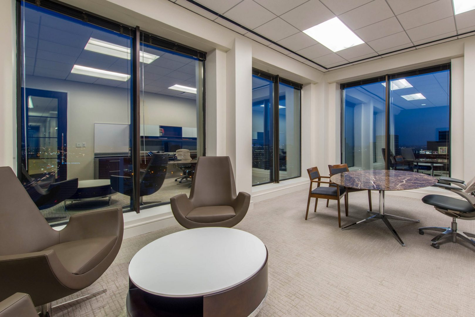 Corporate Law Interior Design Heard Robins Cloud and Black Private Office